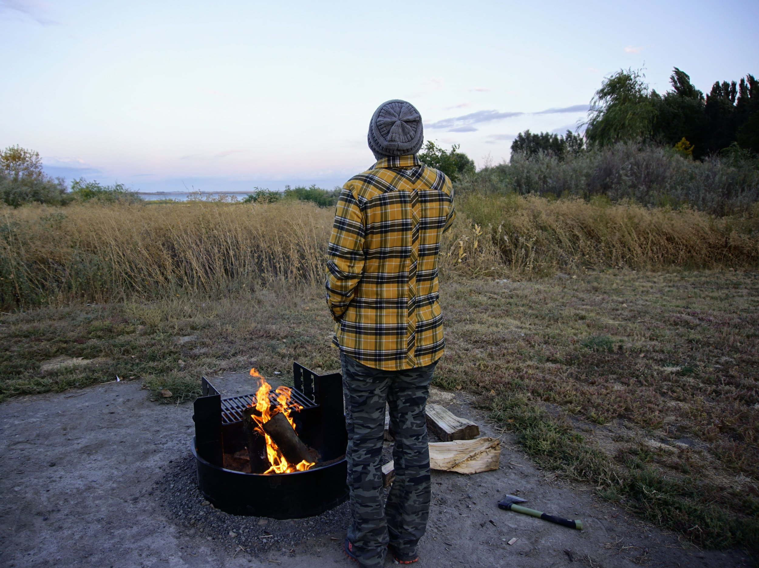Campfire at Potholes State Park