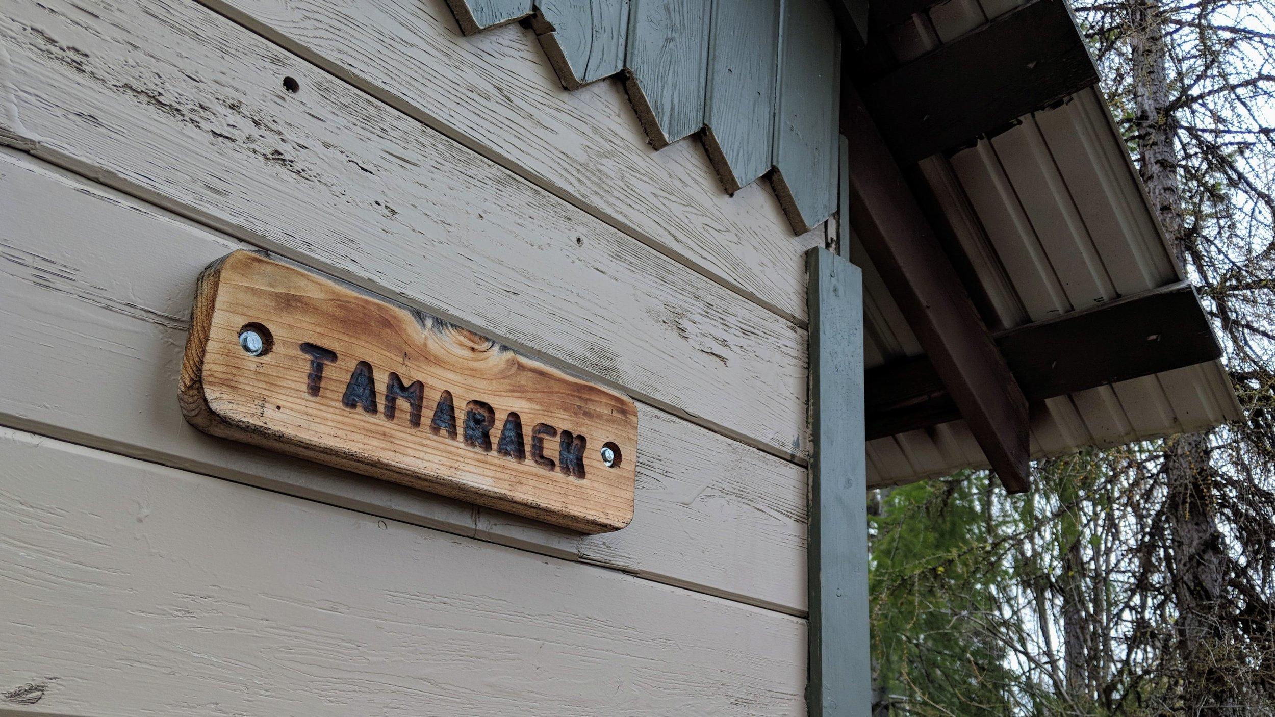 Tamarack cabin at Fields Spring State Park