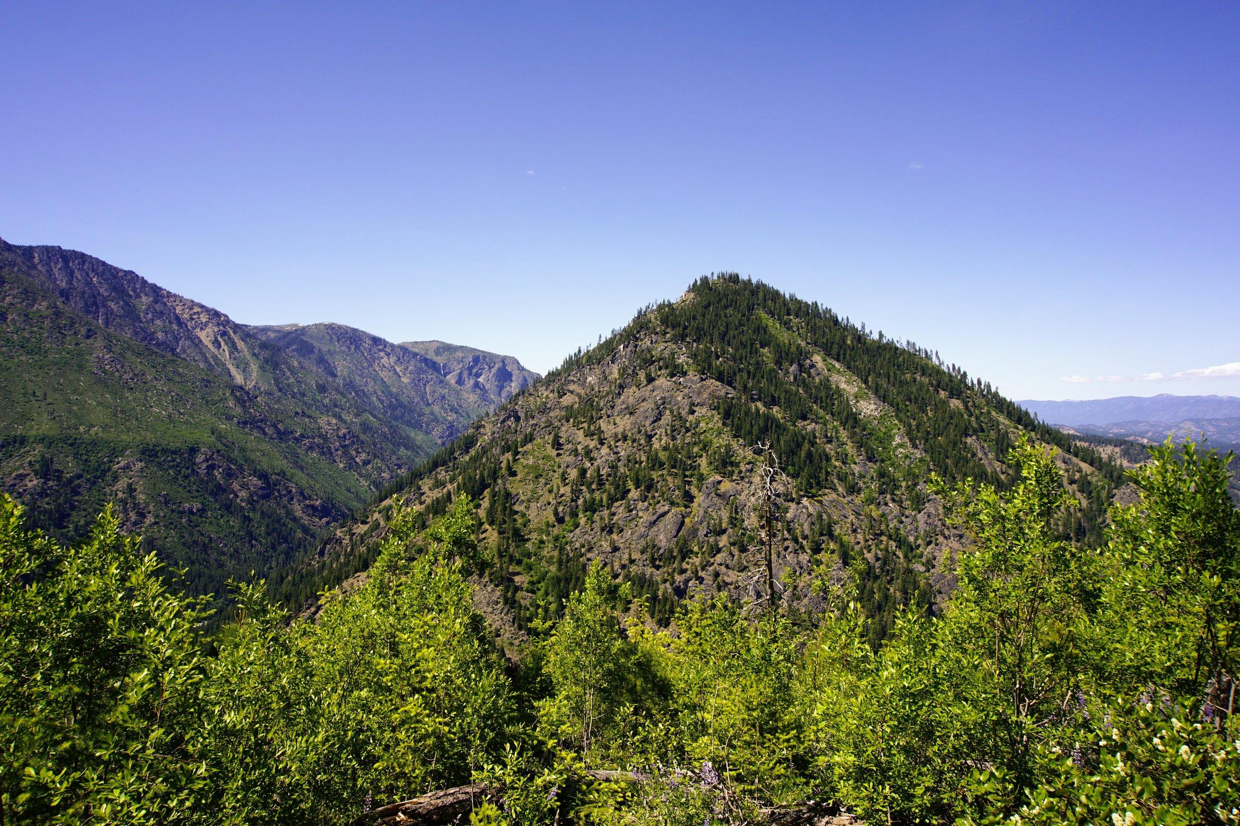 Mountain top across the river