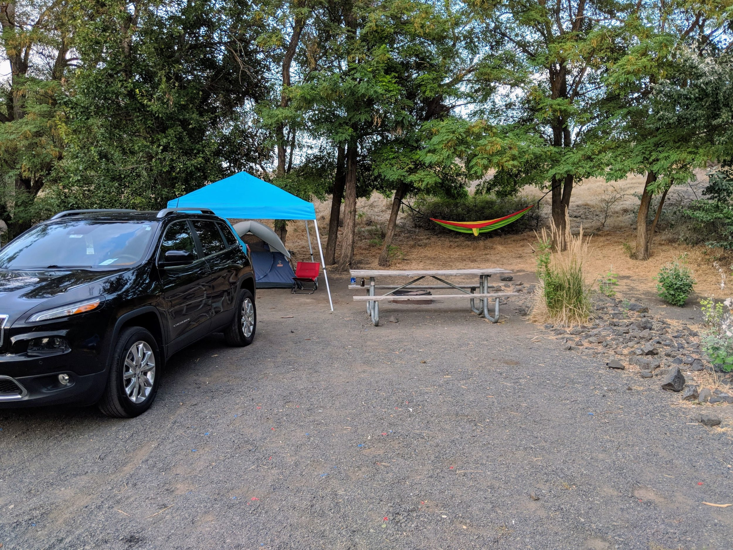 Campsite for two nights
