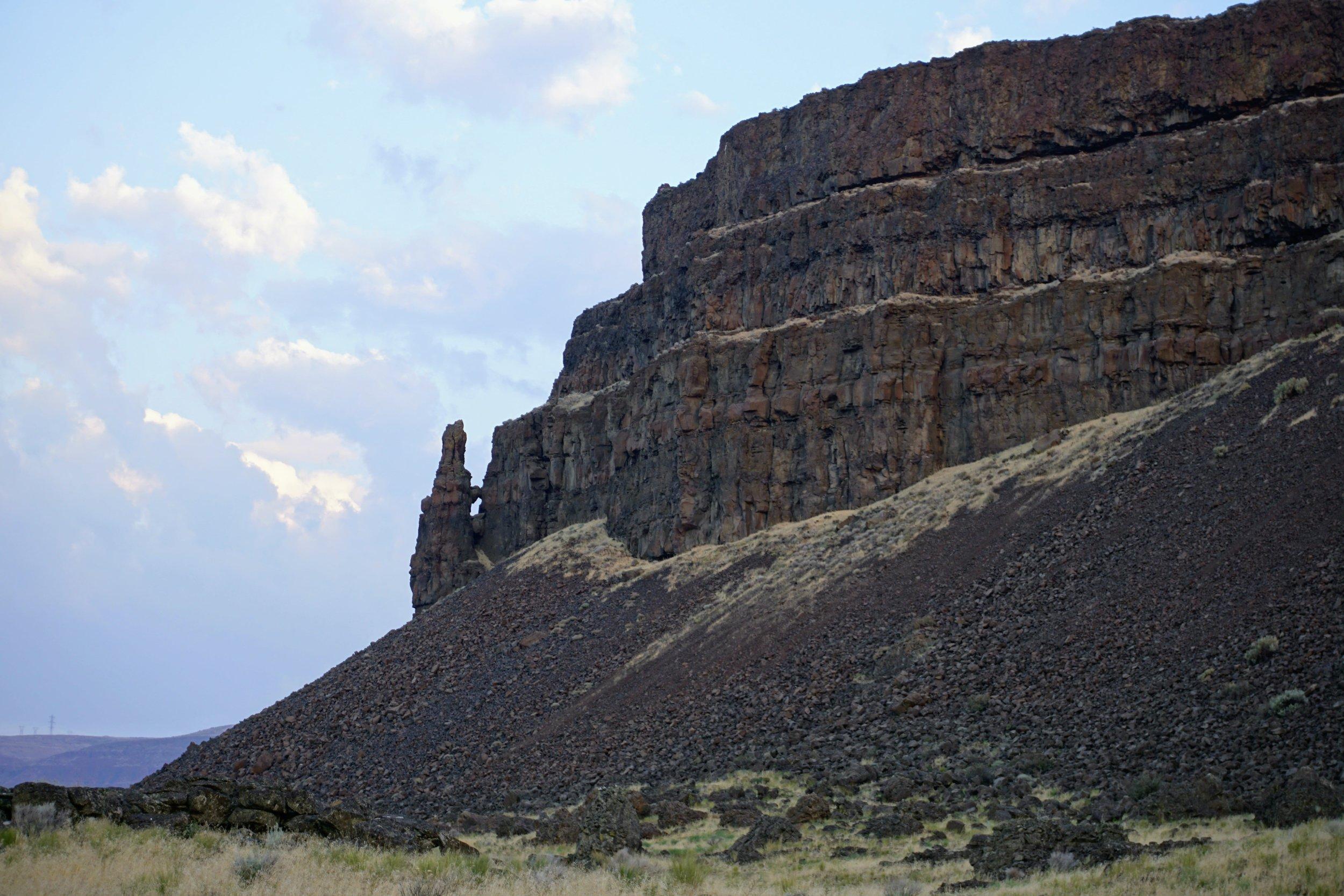 Western point of Umatilla Rock