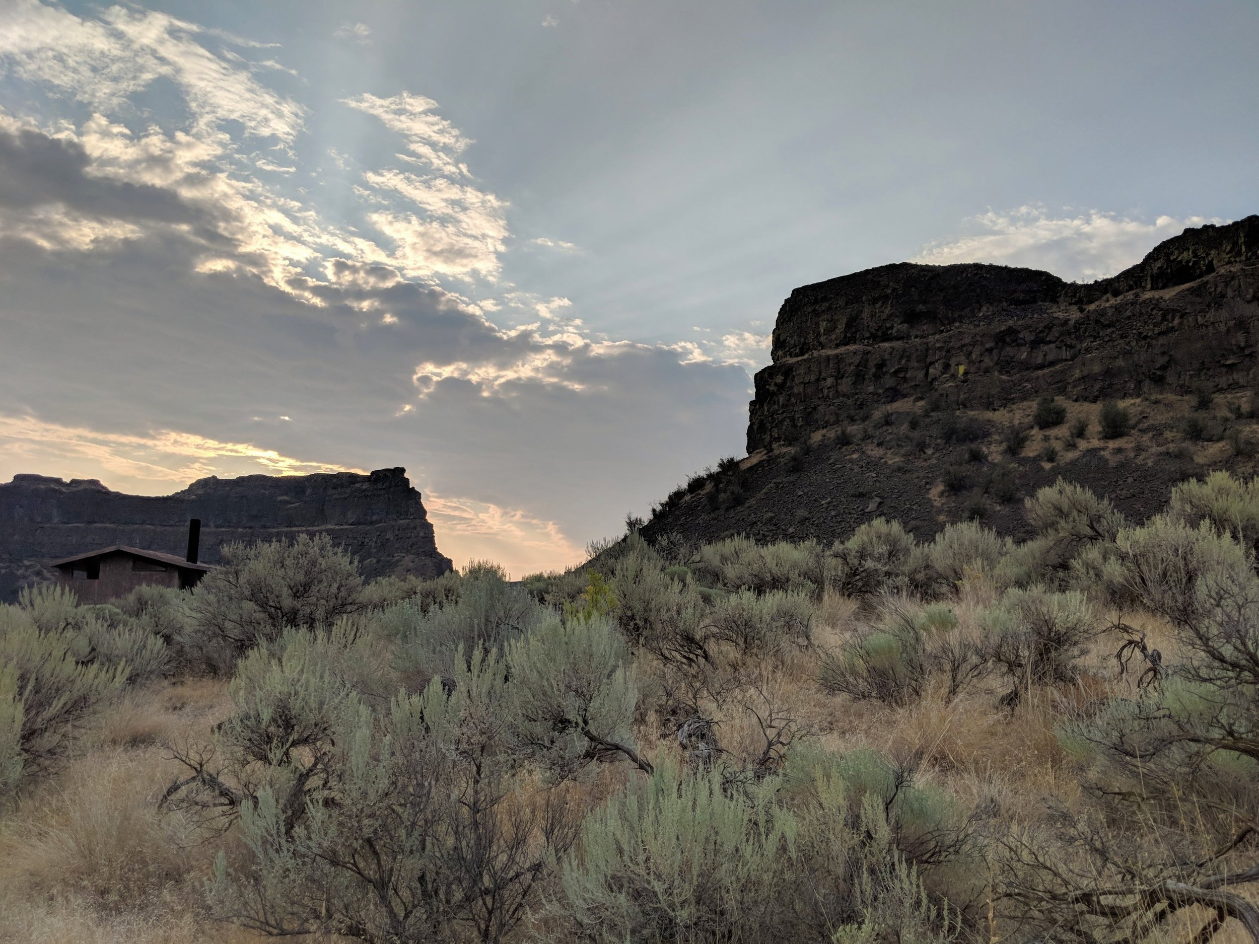 Looking back at Dry Falls