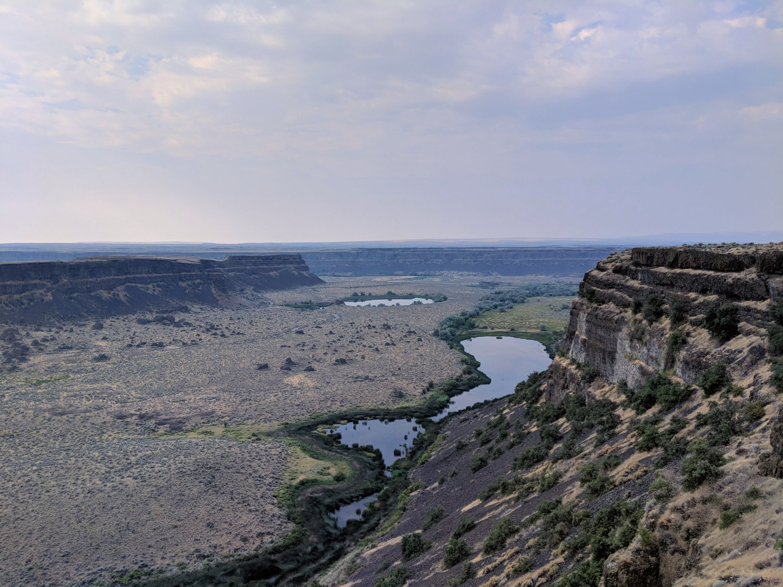 Looking southwest from Dry Falls Visitor Center