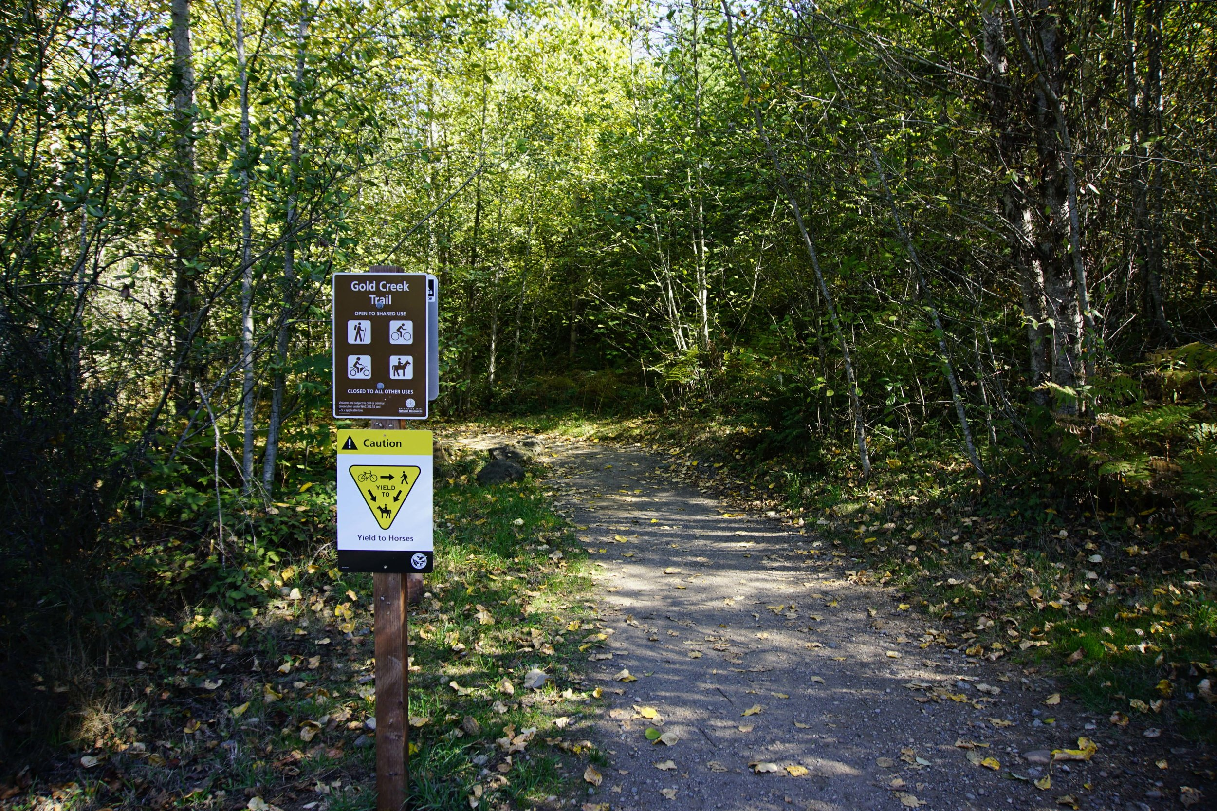 Gold Creek Trail trailhead