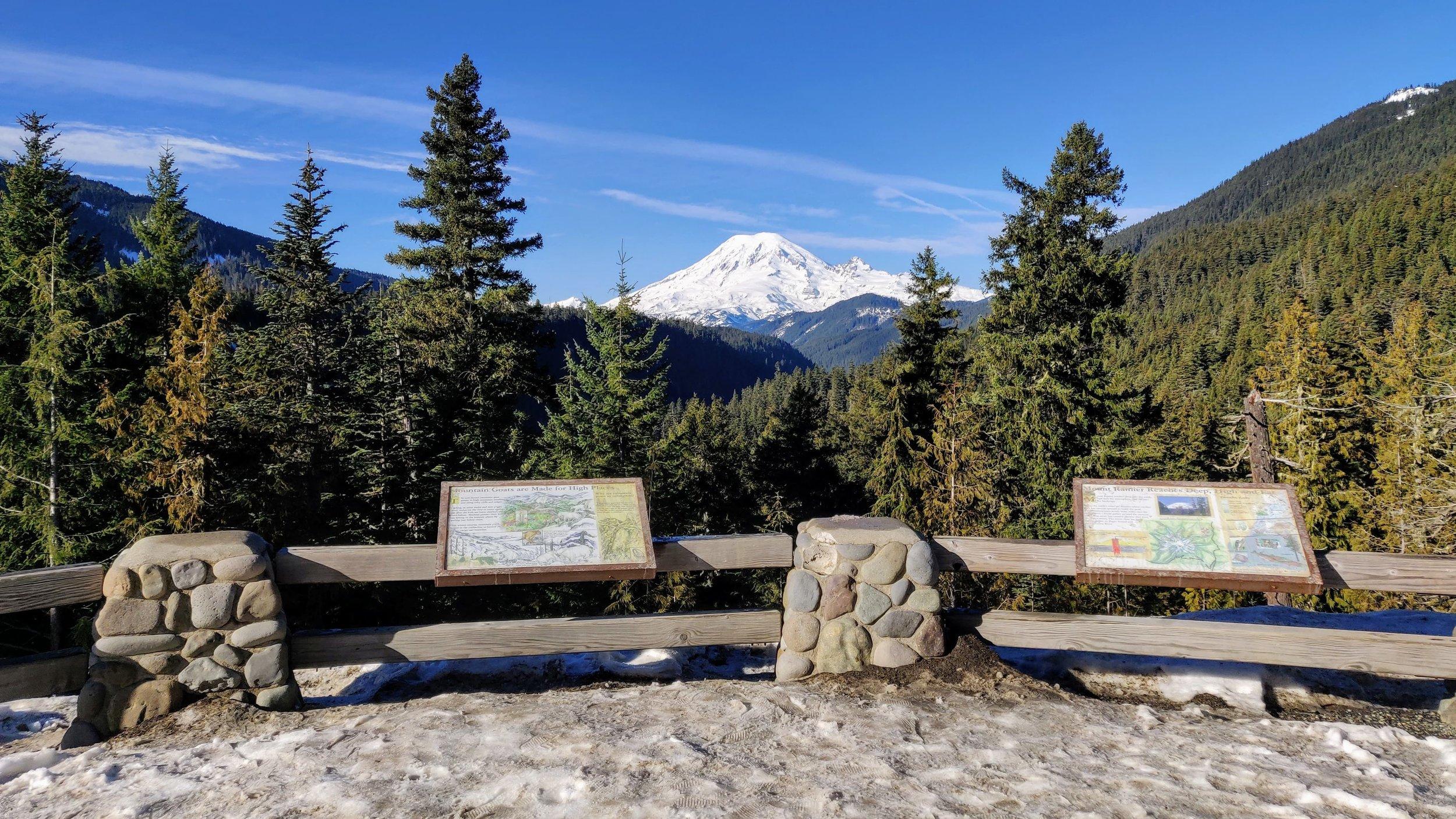 Rainier Viewpoint on drive to White Pass