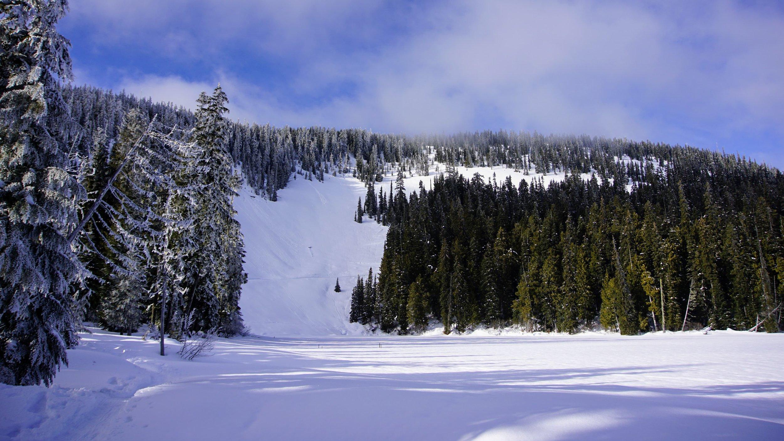 Snow covered Leech Lake
