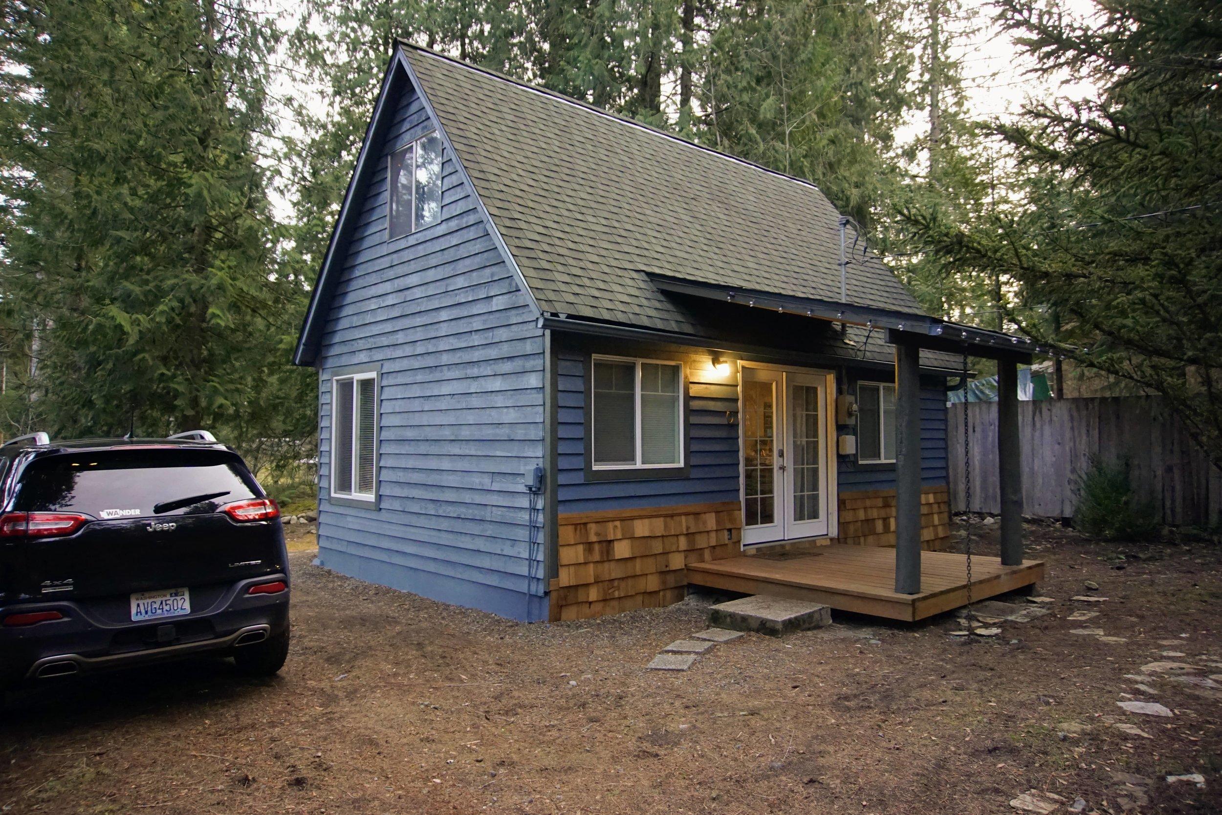 Front of Millard's Cabin