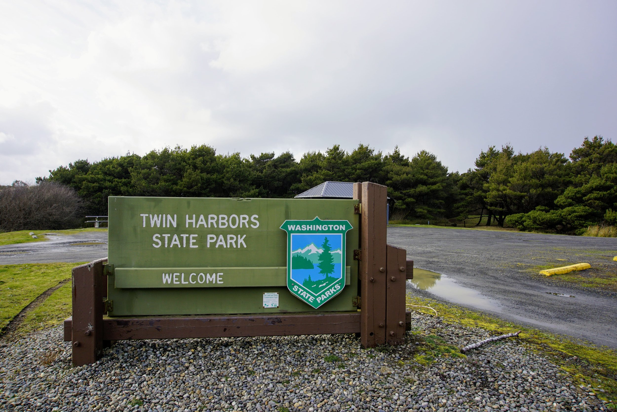 Day Use Parking Lot at Twin Harbors State Park