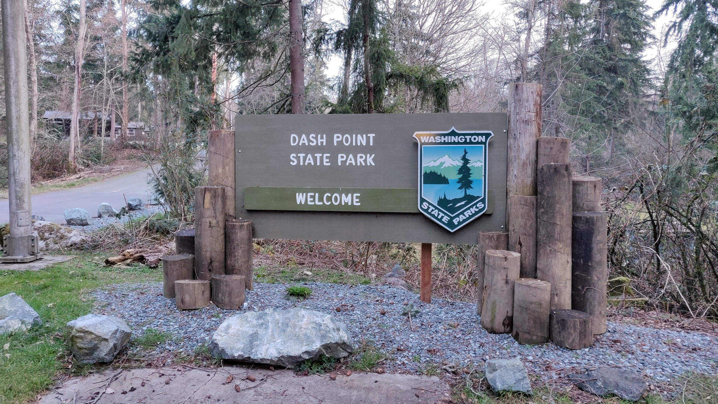 Dash Point State Park welcome sign