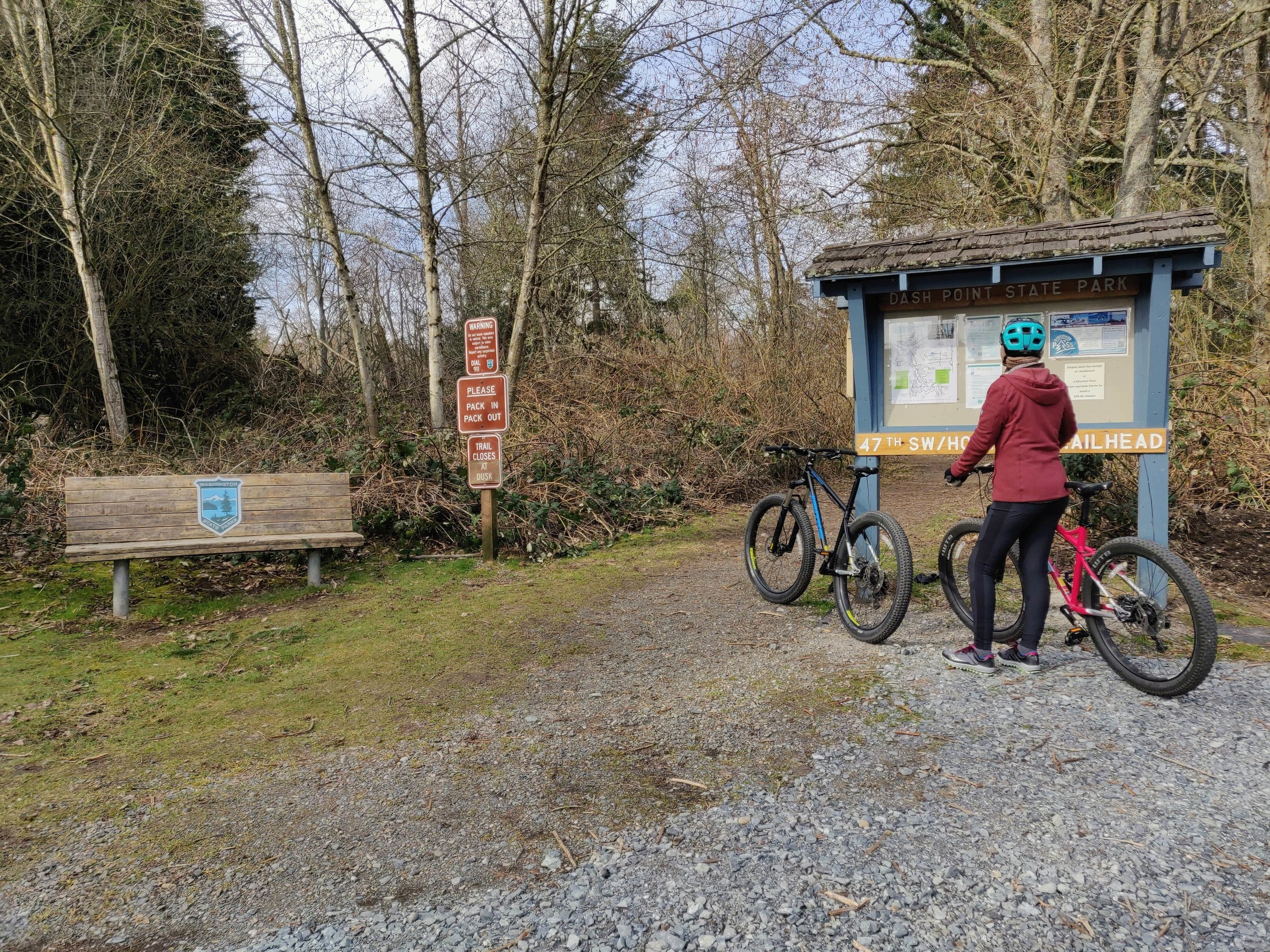 Bike trailhead at Dash Point State Park.jpg