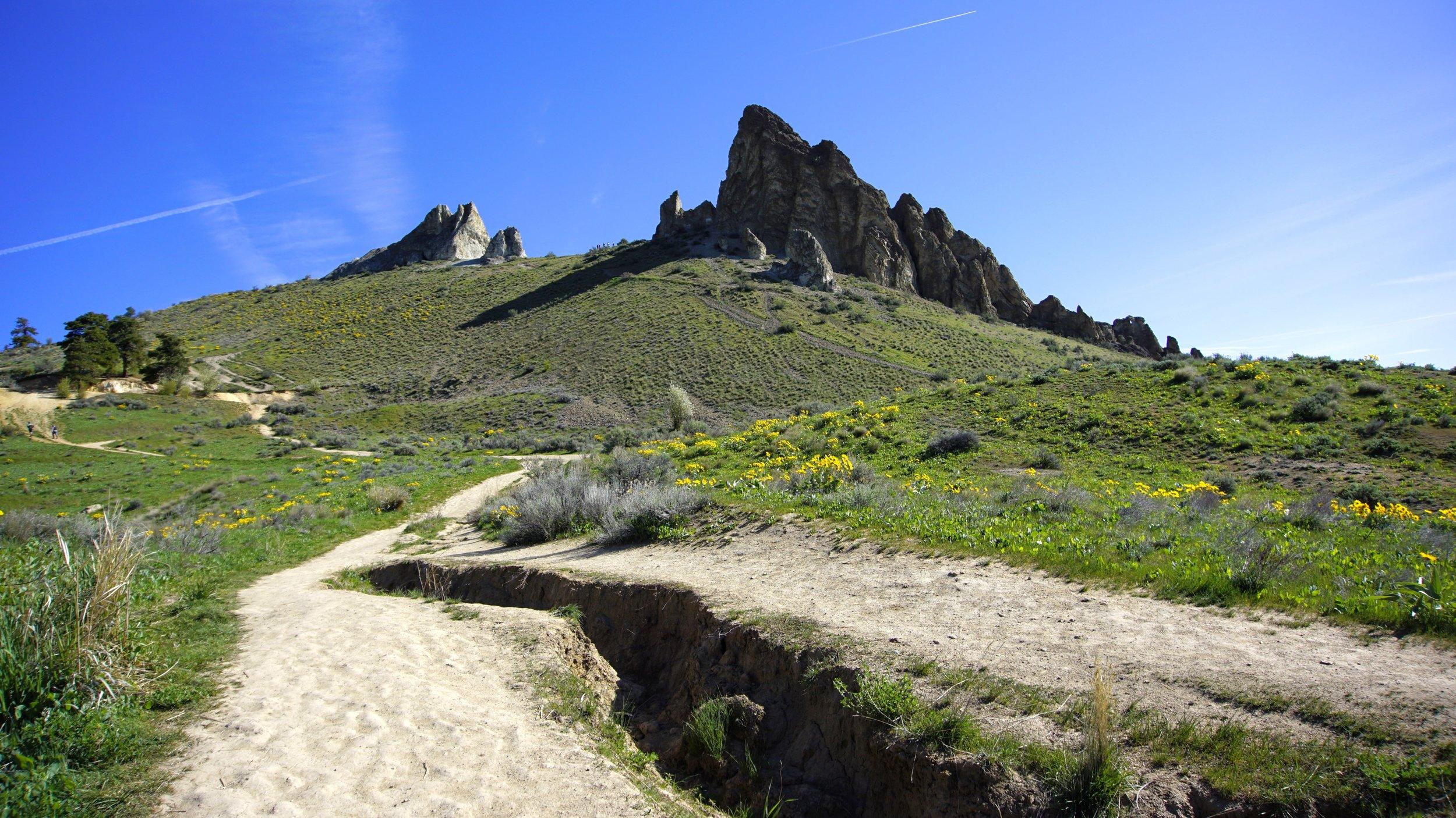 Backside of Saddle Rock