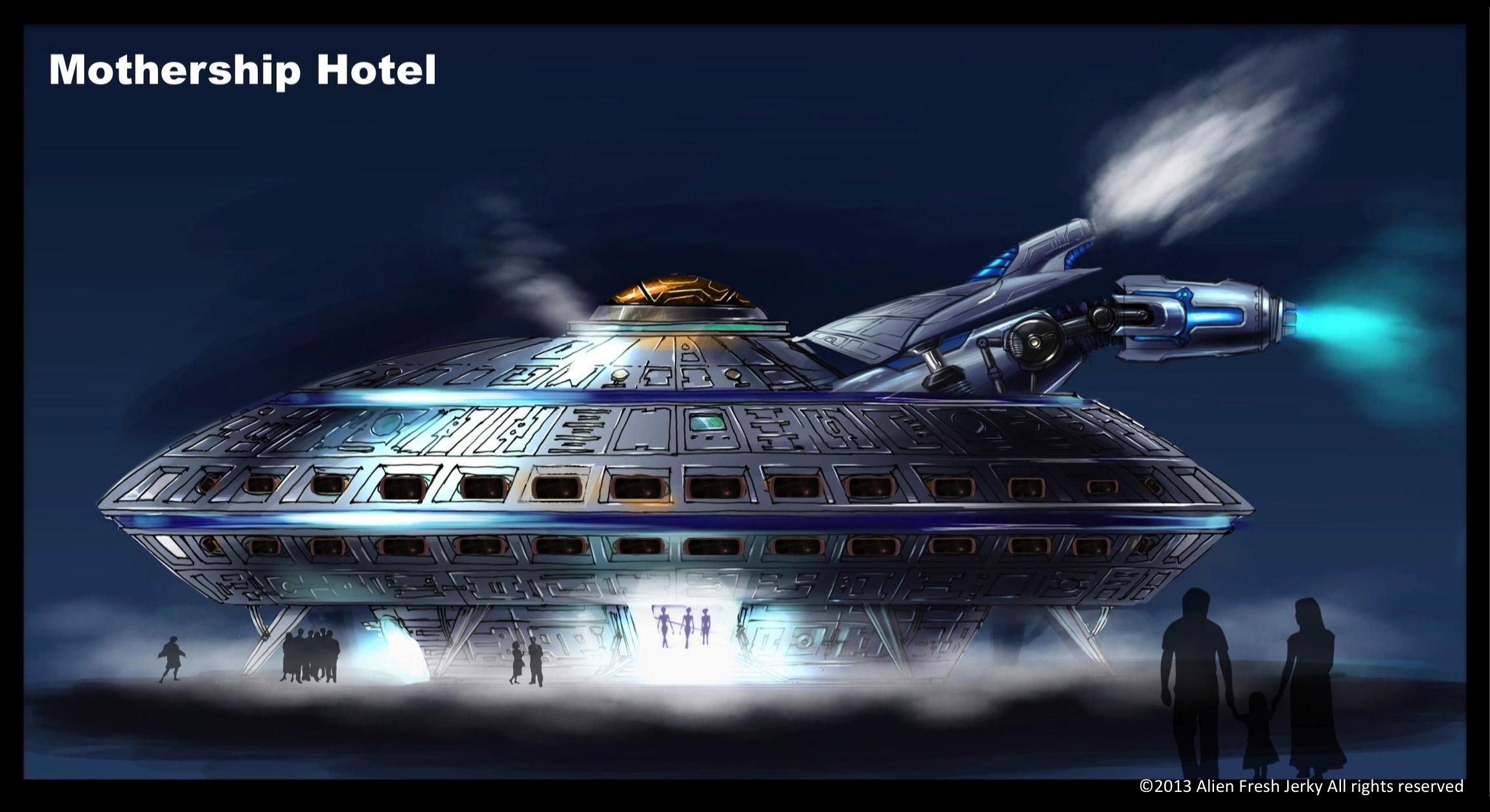 The UFO Hotel in Baker, California