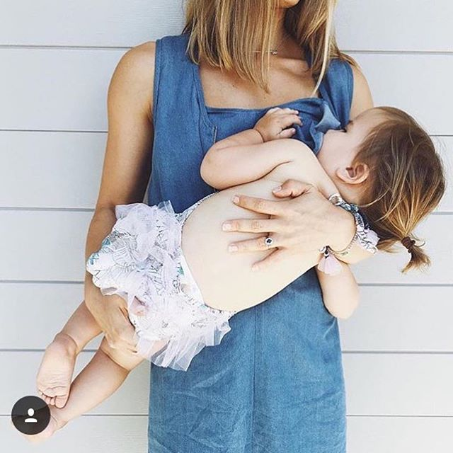 """""""Life is not measured by the number of breaths we take, but by the moments that take our breath away."""" - Maya Angelou 🌷 ⠀⠀⠀⠀⠀⠀⠀⠀⠀ #flashback beautiful mother and daughter captured feeding in our Francesca chambray dress ⠀⠀⠀⠀⠀⠀⠀⠀⠀ #mindfulness #moments #breastfeeding #chambray #stylefeeder #stylefeedwomen #internationalwomensday #iwd2019"""