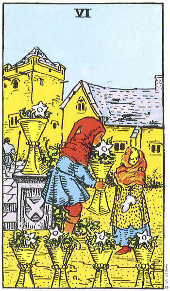 The 6 of Cups card in the Tarot often indicates something from the past returning in an attempt to be resolved.