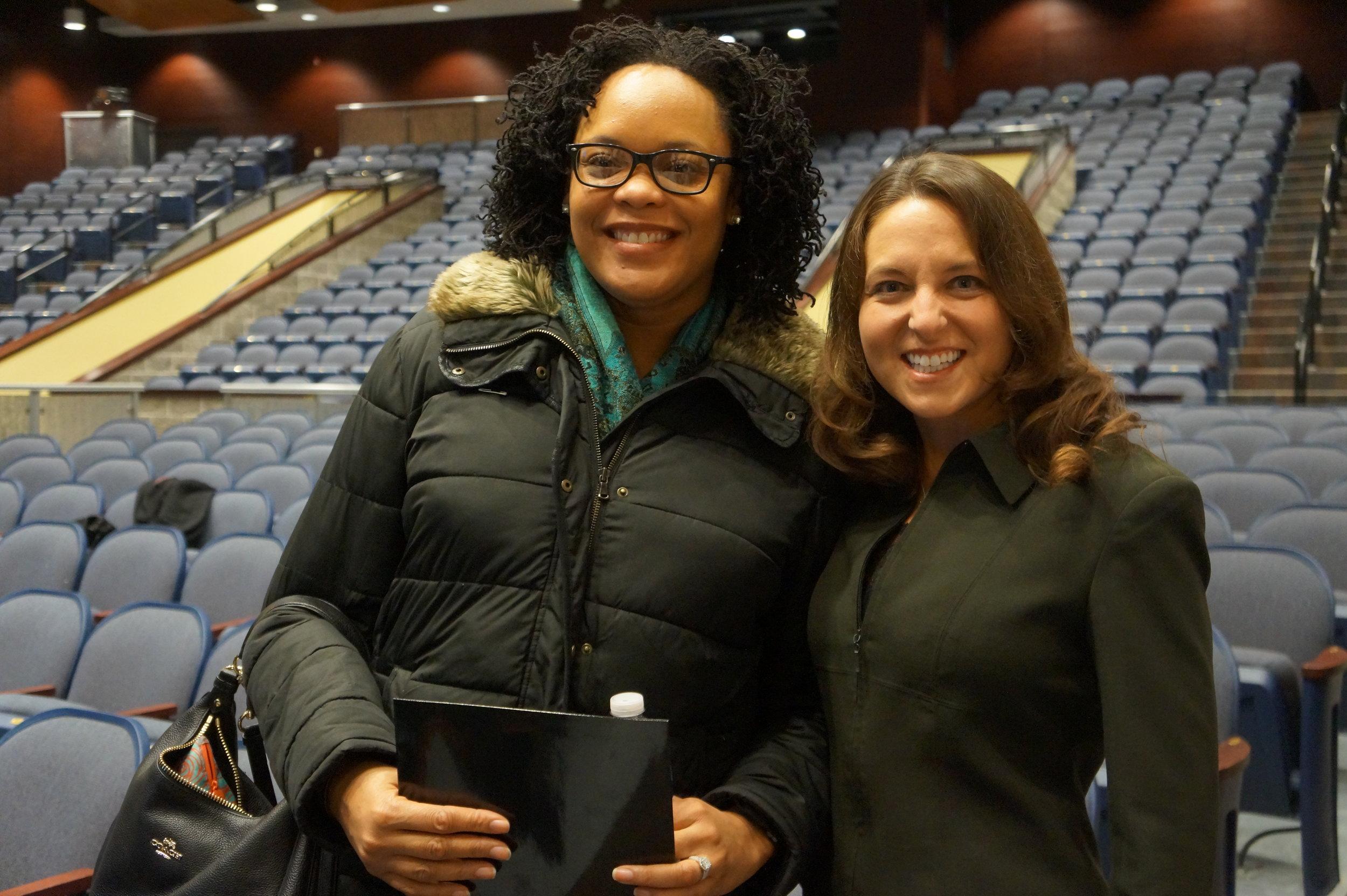 CEO Sheri Smith with a Buffalo Public Schools educator.