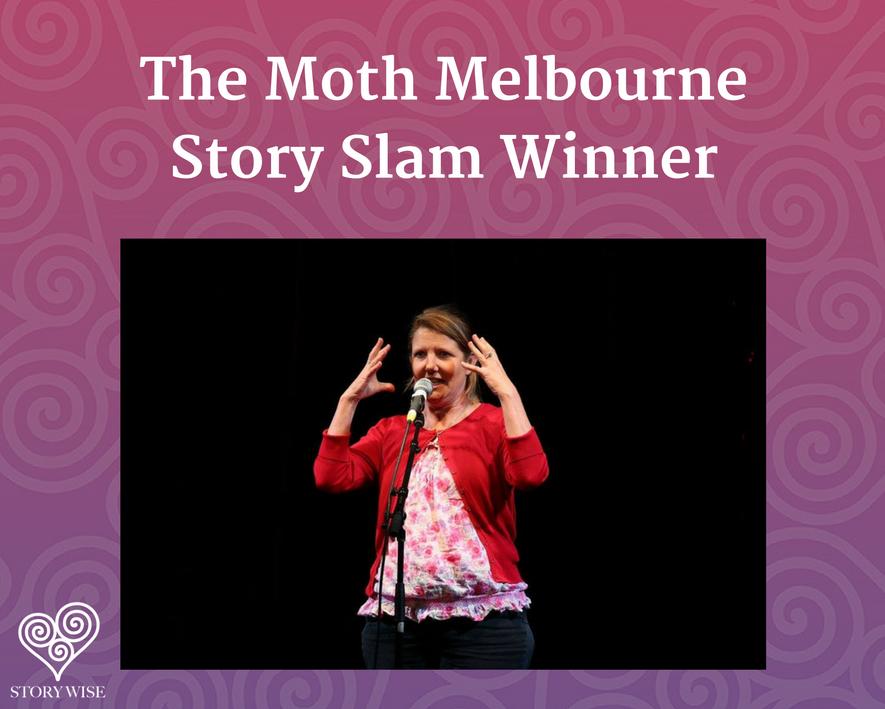 Kate Lawrence - the Moth story Slam winner - melbourne