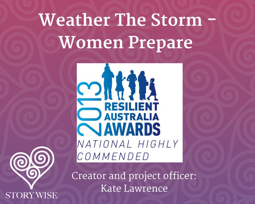 Kate Lawrence Resilient Australia Awards