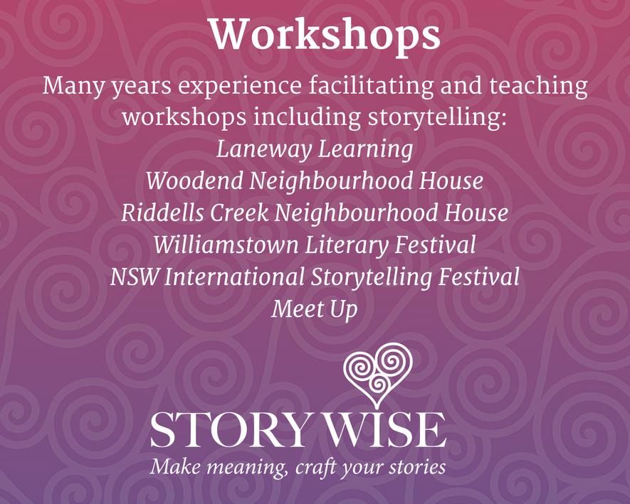 Kate Lawrence storytelling workshop leader