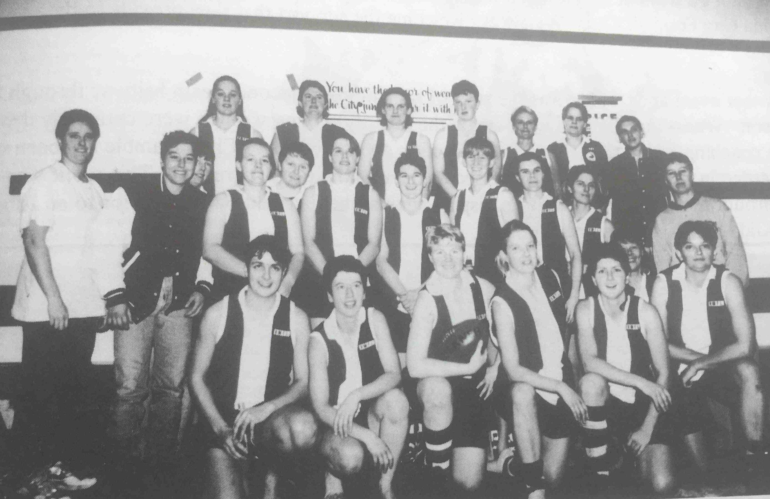 St Kilda Sharks Women's Football team, 1996