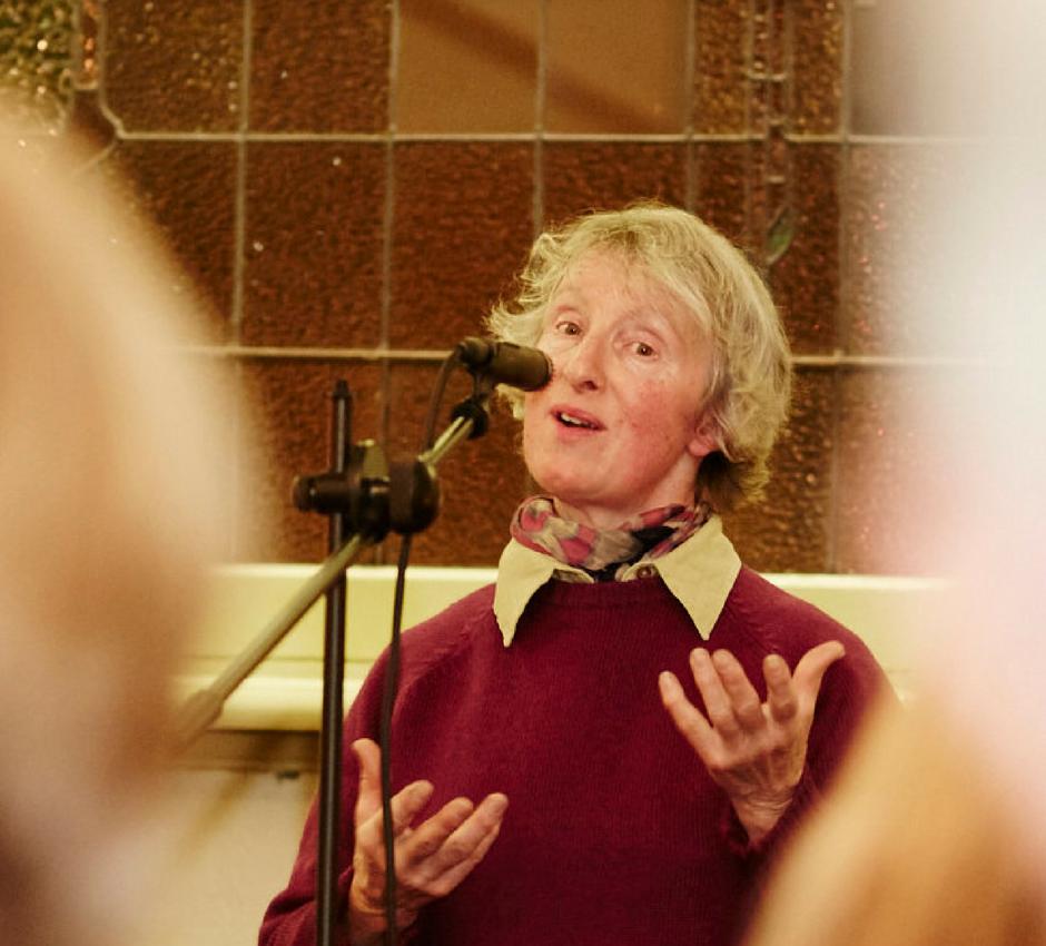 Christine Hardiman telling a story