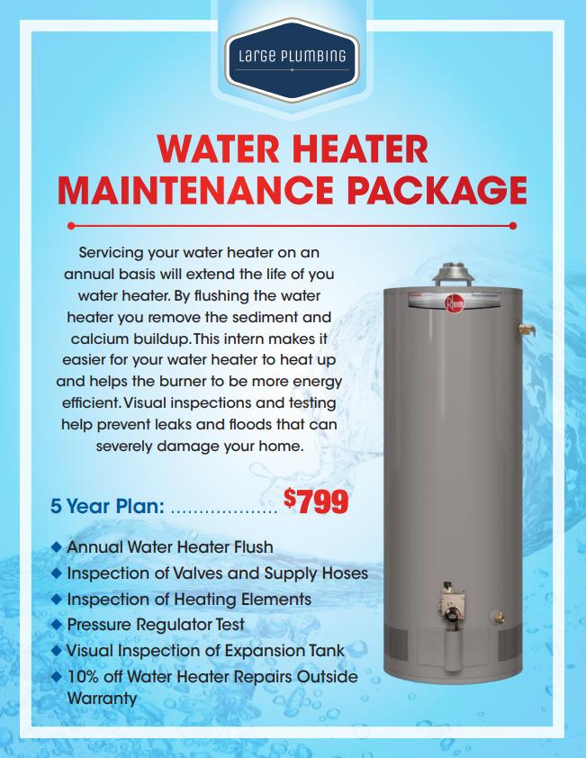 Water Heater Maintenance Package
