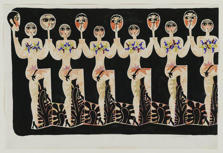 ©Ian Spurling Costume design for Corps de Ballet of Seven Deadly Sins 1961