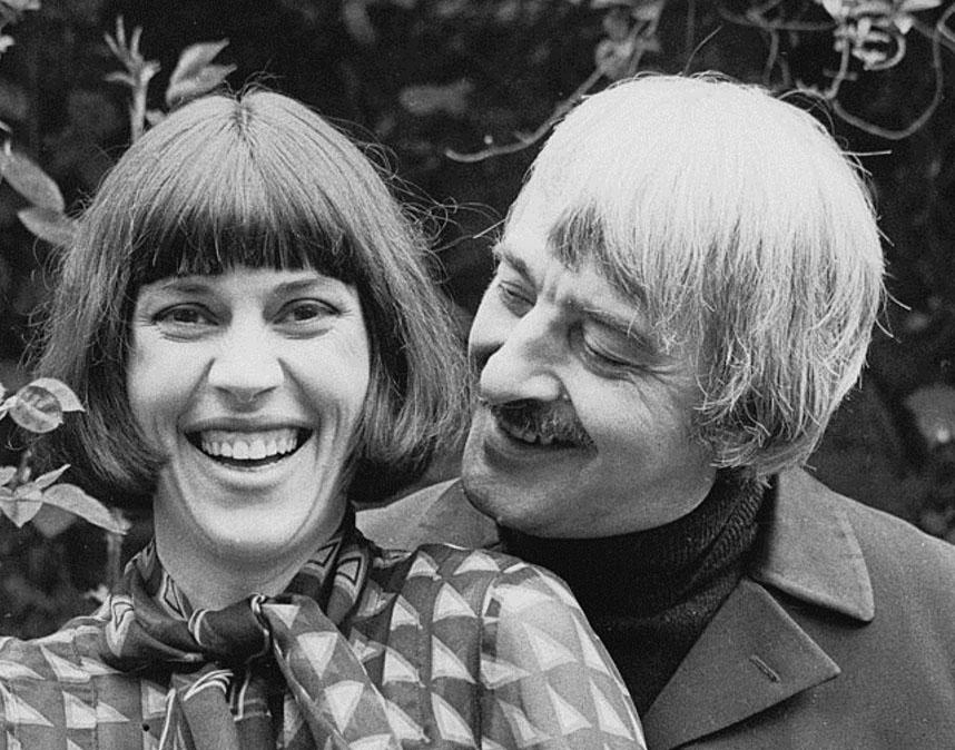 Deborah Williams and Kenneth MacMillan on their wedding day 1974