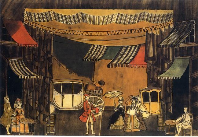 Original sketch design of Manon Act 1 ©Nicholas Georgiadis Estate