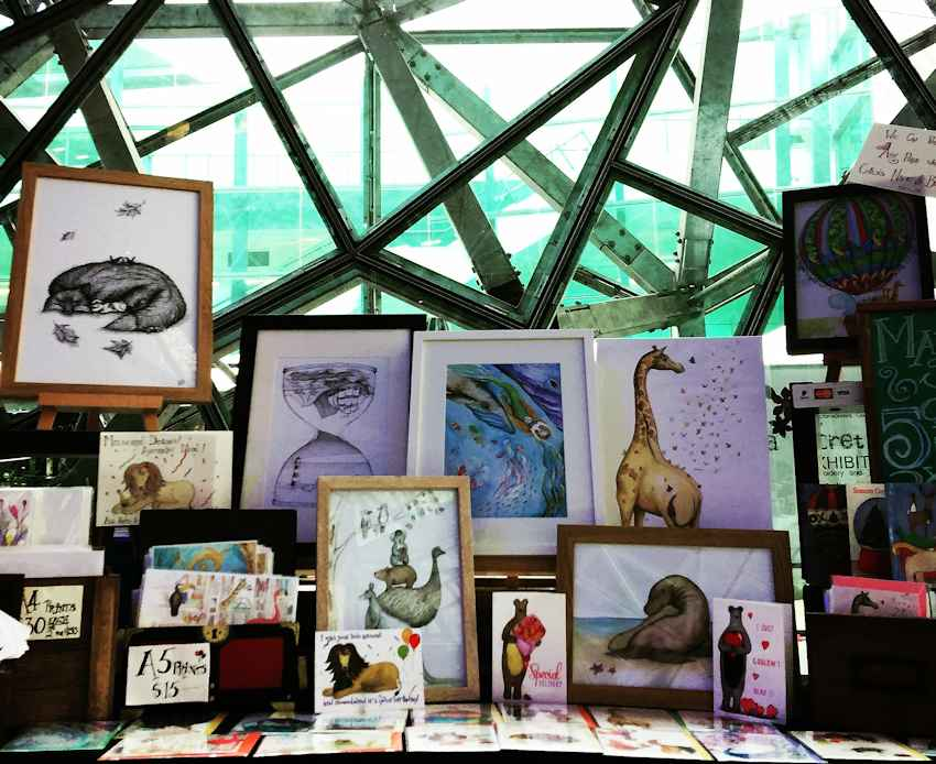 Squid Ink Art - Melbourne Mystery Market (Flinders Street)