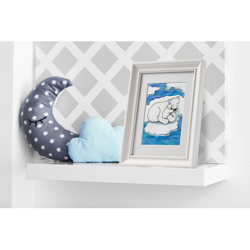 Polar bear and cub nursery wall art print
