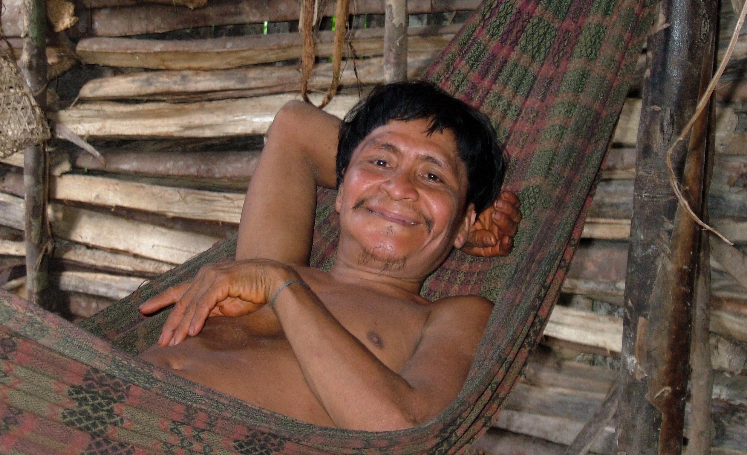 tribal elder in hammock.JPG
