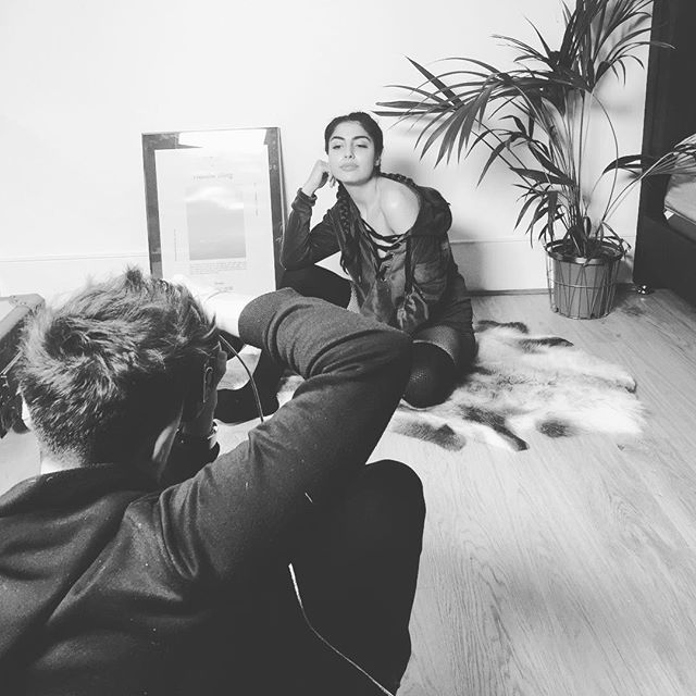✊🏽HAPPY WOMENS DAY✊🏽 Celebrating with a #bts of the beautiful @nicolaachilleas on set last week picture coming soon!  Makeup by @jolandamakeup  Assisted by @jacksomerset  #campaign #lifeinblackandwhite
