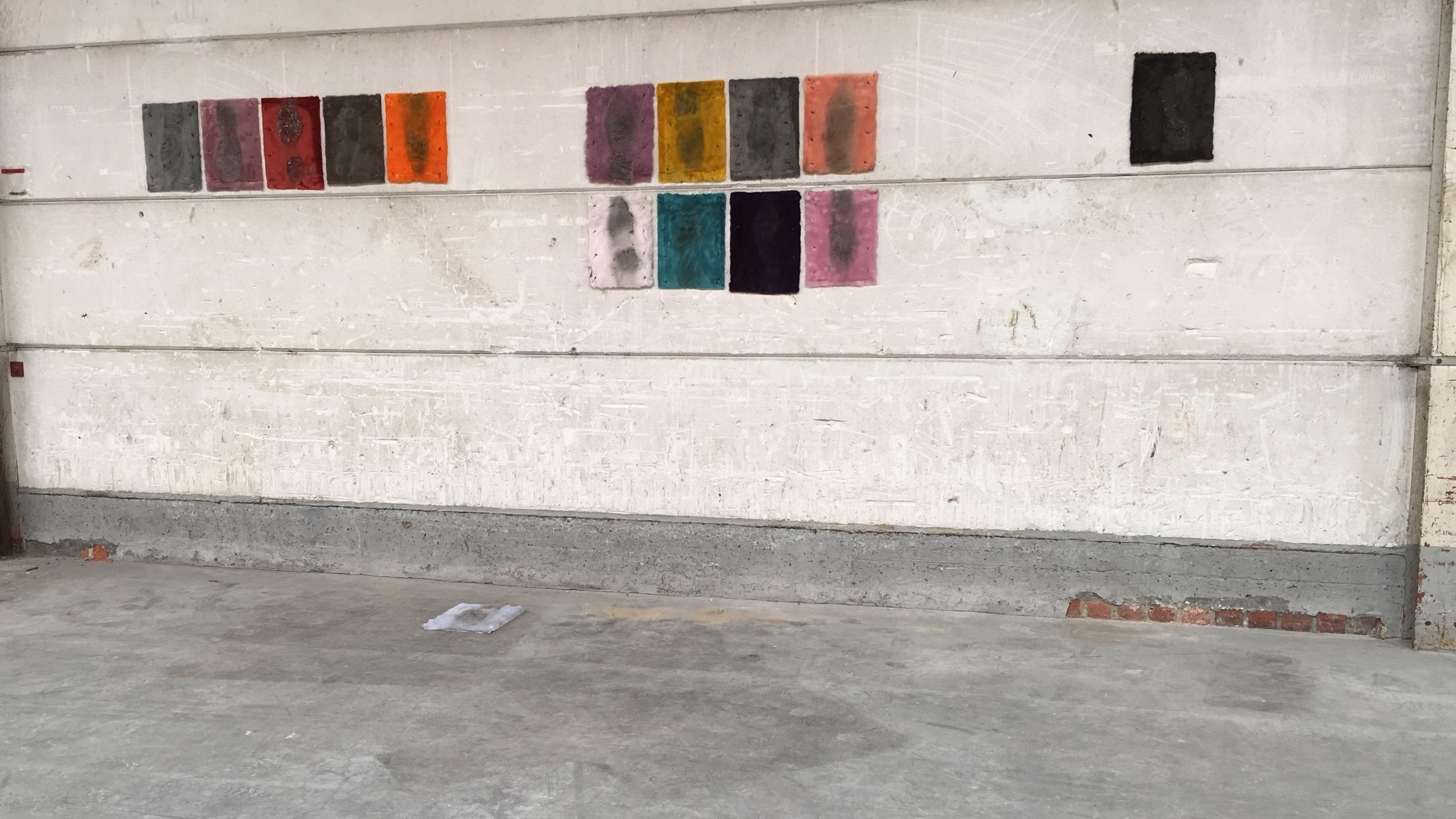 Shadow of a Walk , Freddy Grant and Hélène Thensiau, faux fur, Tyber.nv, Menen 2016