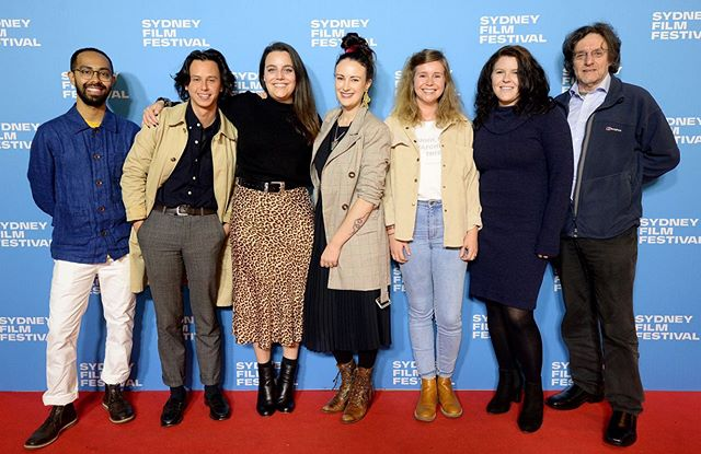 The dream team: @jazzlobotomy on sound, composer @limkch , associate producer @lucyjhayes , yours truly @wheresmymyki , editor @_speedwagon , our star @anna_jakab_me 🌟 and distributor and EP @potentialfilmsdistribution . Moral of the story: surround yourself with a great team and anything is possible. 💕 . . . #iamnobirdfilm #sydneyfilmfestival #worldpremiere