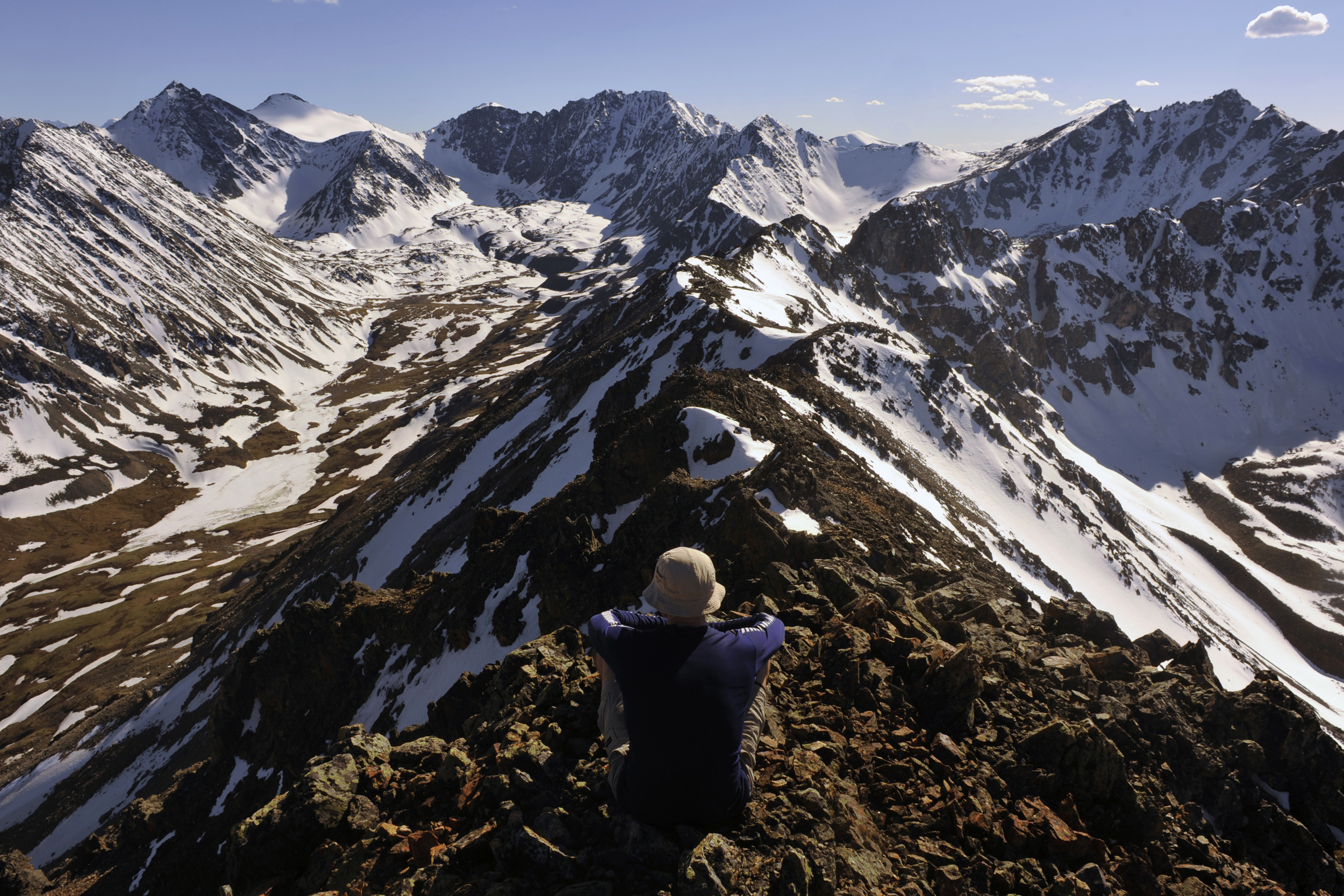 The vista of several of the peaks we climbed (Photo credit:  Dave Tett )