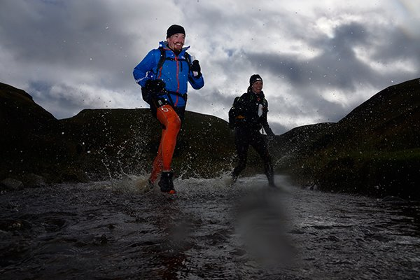 Claire Briggs and me racing to the finish –OMM 2015 (photo credit: R and R photos)