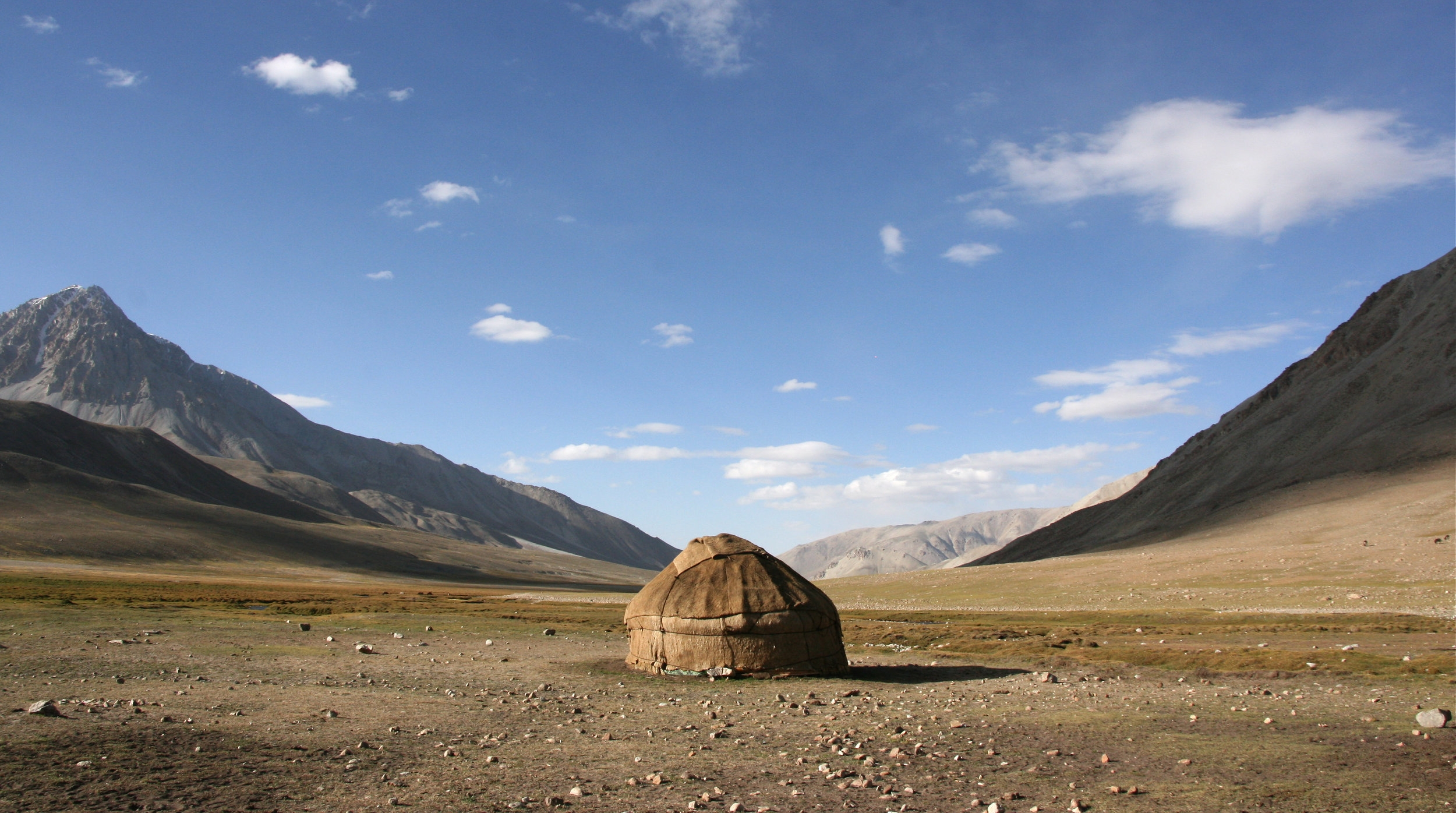 The yurt we stayed in high in the Wakhan mountain range