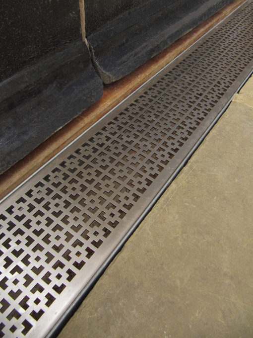 Mosaic Stainless Steel Drainage Channel.