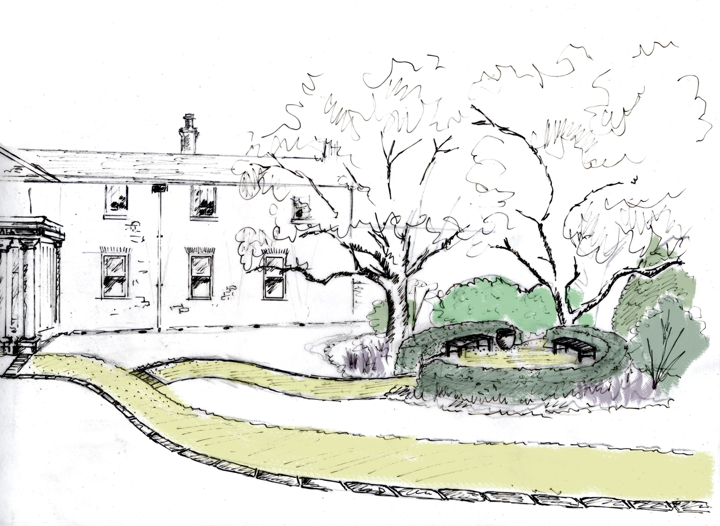 Eves & Lewis Landscape Design Concept for Whitworh Hall