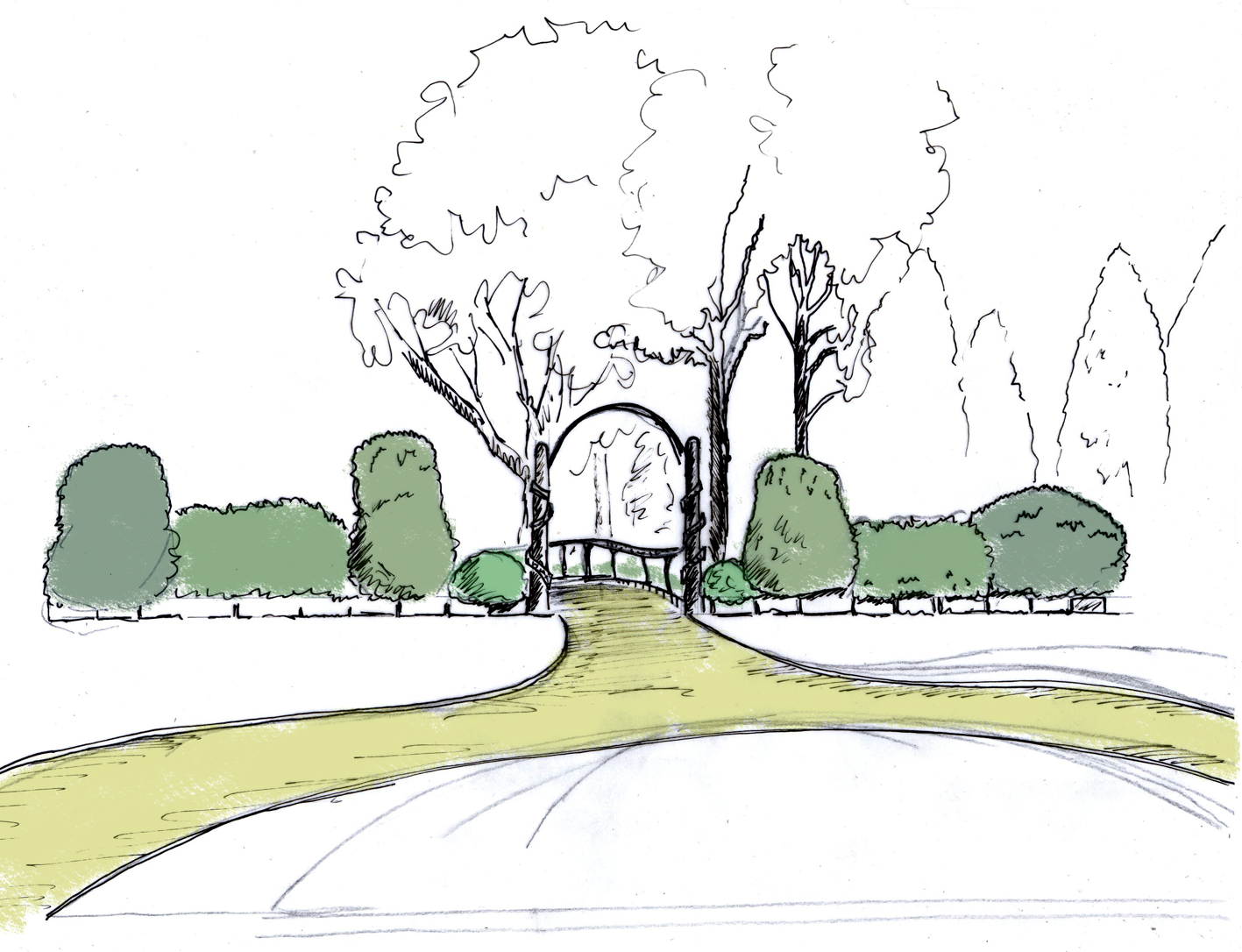 Eves & Lewis Landscape Design Concept for Whitworth Hall Hotel