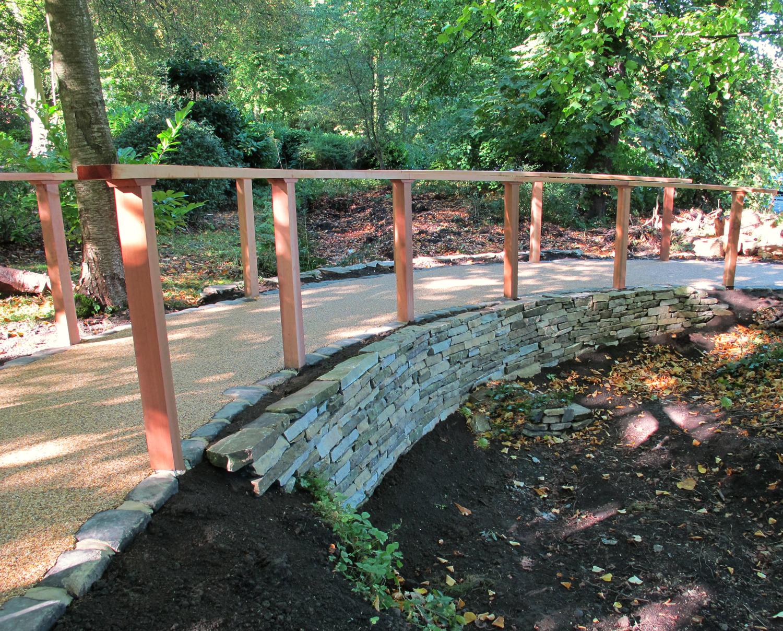 New Pathway & Cedar Hand Rail
