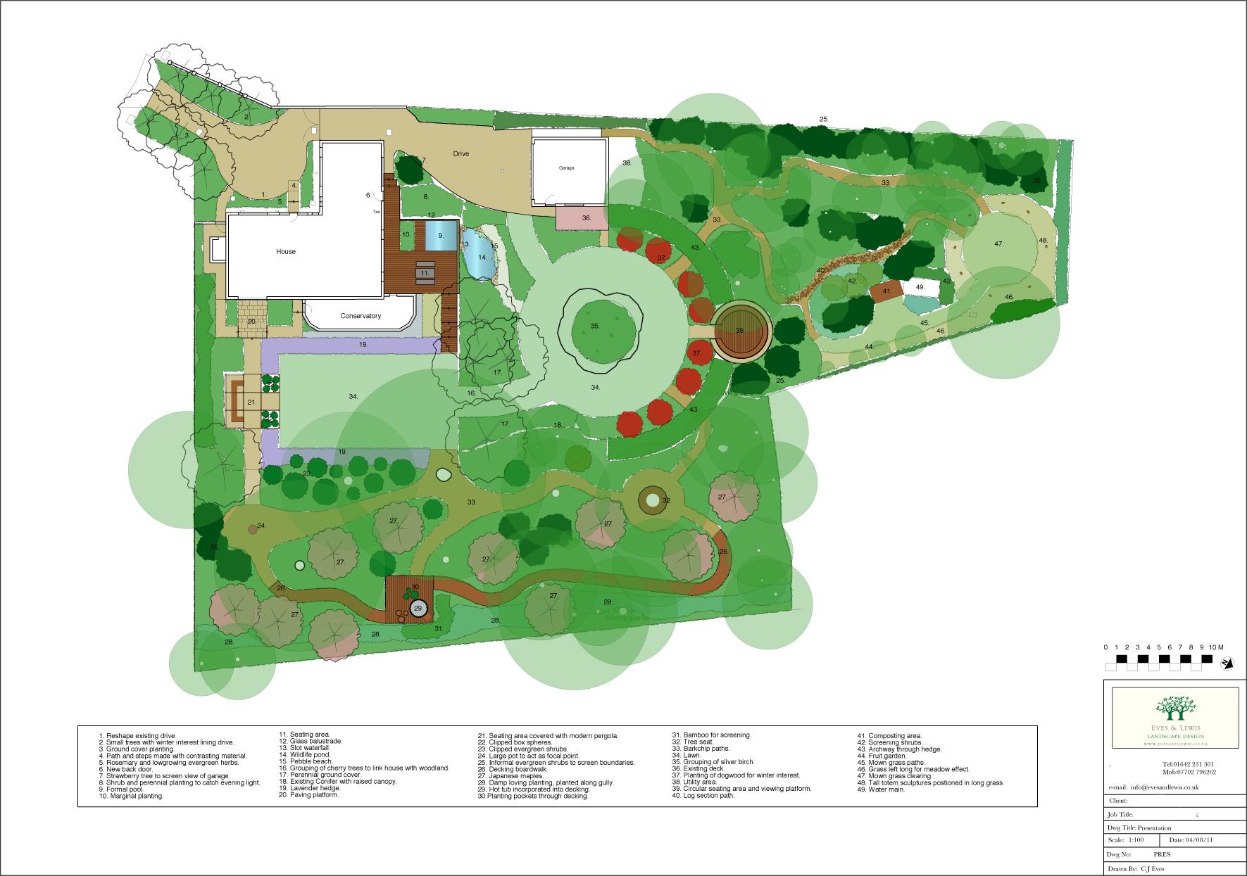 Presentation Plan by Eves & Lewis Landscape Design