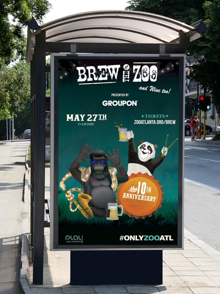 Brew at the Zoo ad, Marta