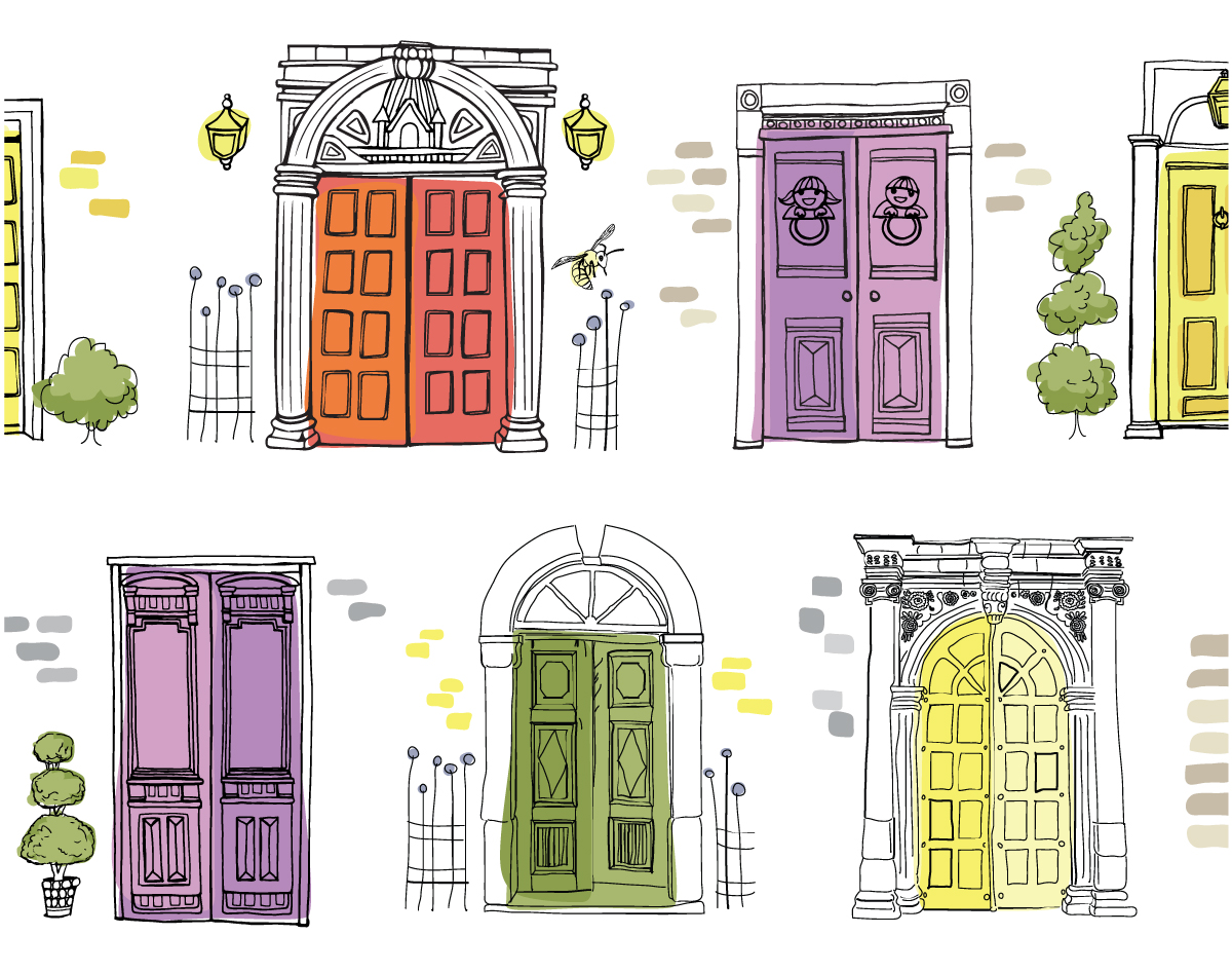 Door illustrations for home page