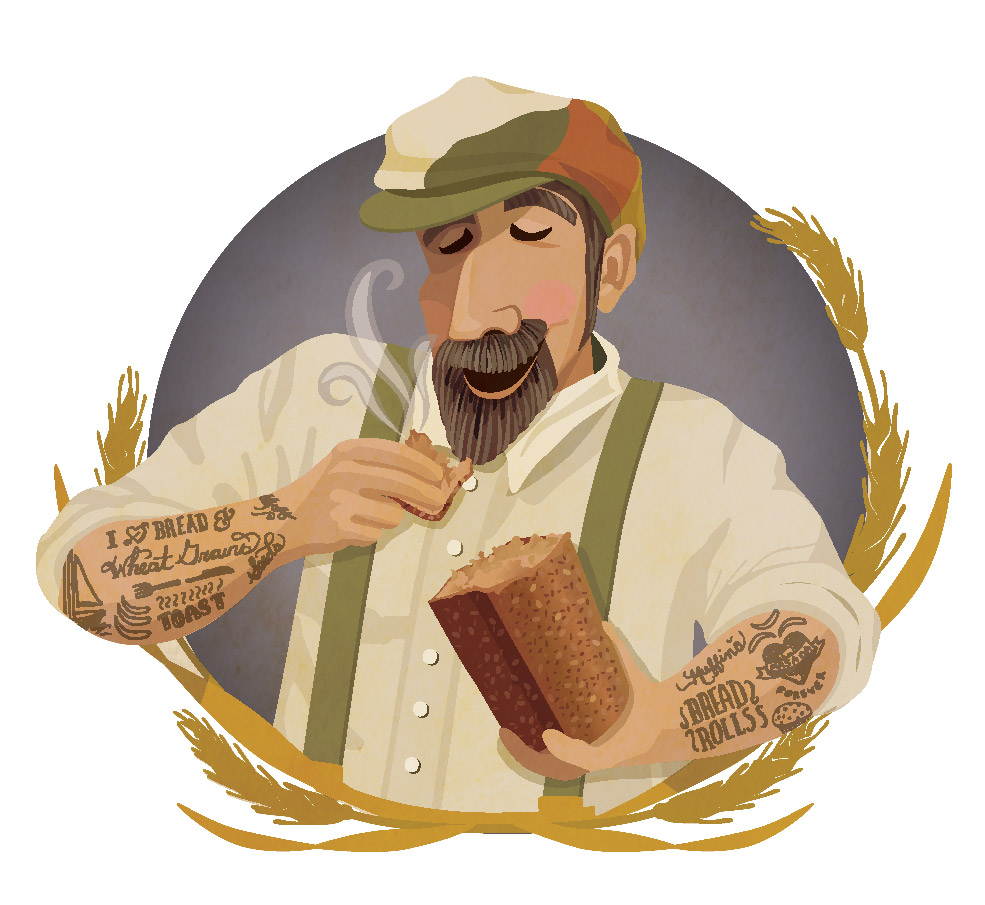 The above is a reference to the brothers, Hezi and Kobi who founded Masada Organic. It should be noted that the brothers do not have tattoos of bread!
