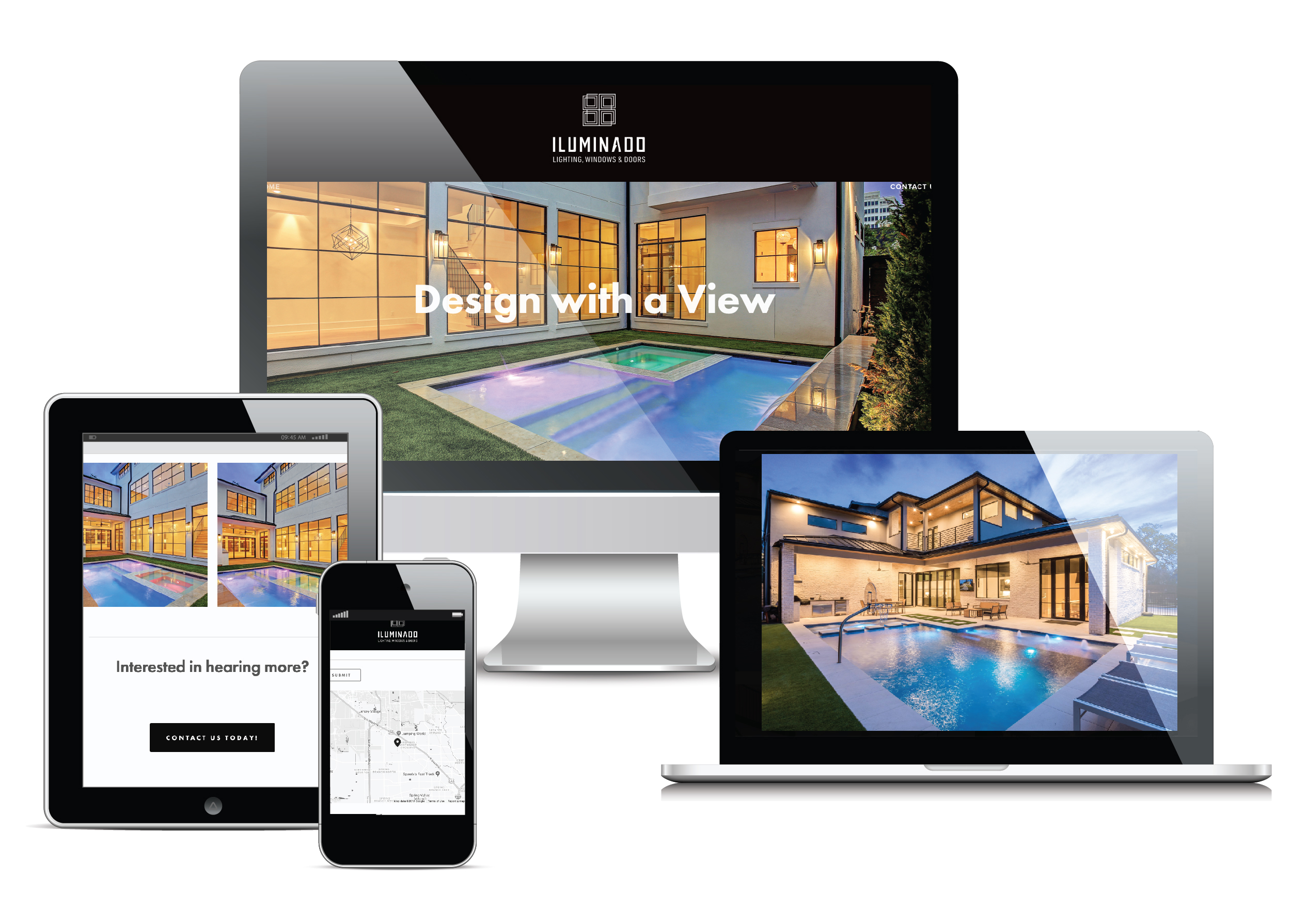 A responsive website reflected a clean and simple aesthetic, showcasing product.
