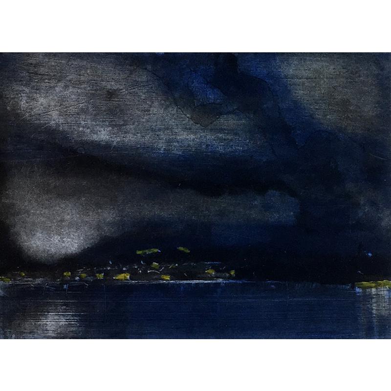 ØRNULF OPDAHL  Möt Land  on view at Jesmond Dene House   Etching, edition of 50, 17 x 23cm  £695 Framed    ENQUI  RE