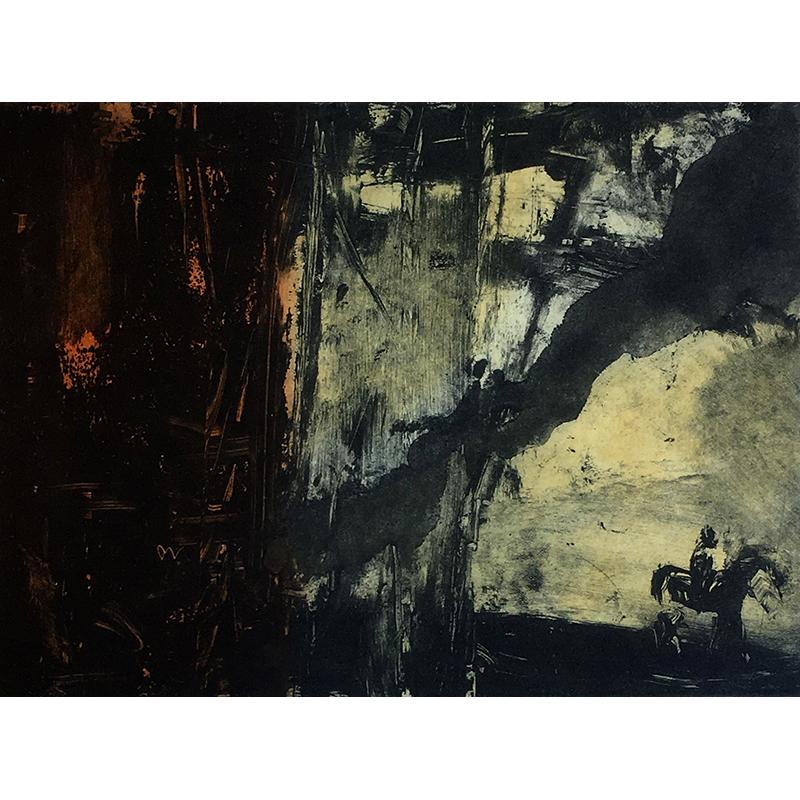 ØRNULF OPDAHL  Rytter  on view at Jesmond Dene House   Etching, edition of 50, 17 x 23cm  £695 Framed    ENQUIRE