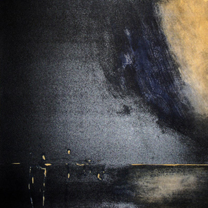 ØRNULF OPDAHL  Fjord  on view at Jesmond Dene House   Lithograph, ed. 47/80, 70 x 70cm  £1,150 Framed    ENQUIRE