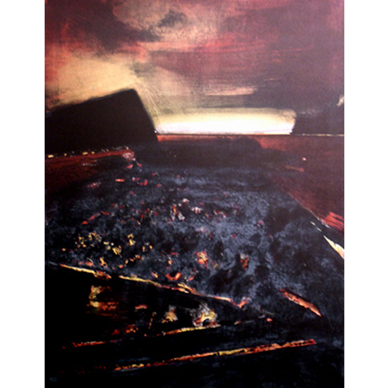 ØRNULF OPDAHL  The Last Light  on view at Jesmond Dene House   Lithograph, ed. 38/80, 80 x 62cm  £1,200 Framed    ENQUIRE